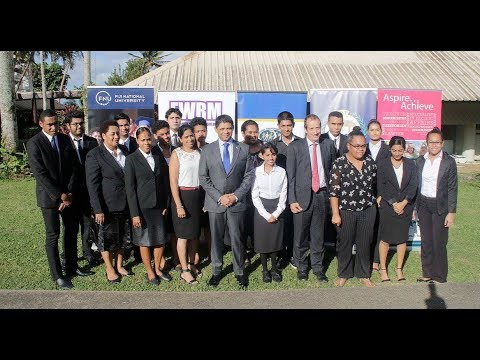 Fijian Attorney General officiates the Inter-Tertiary Human Rights Annual Moot Court Competition.