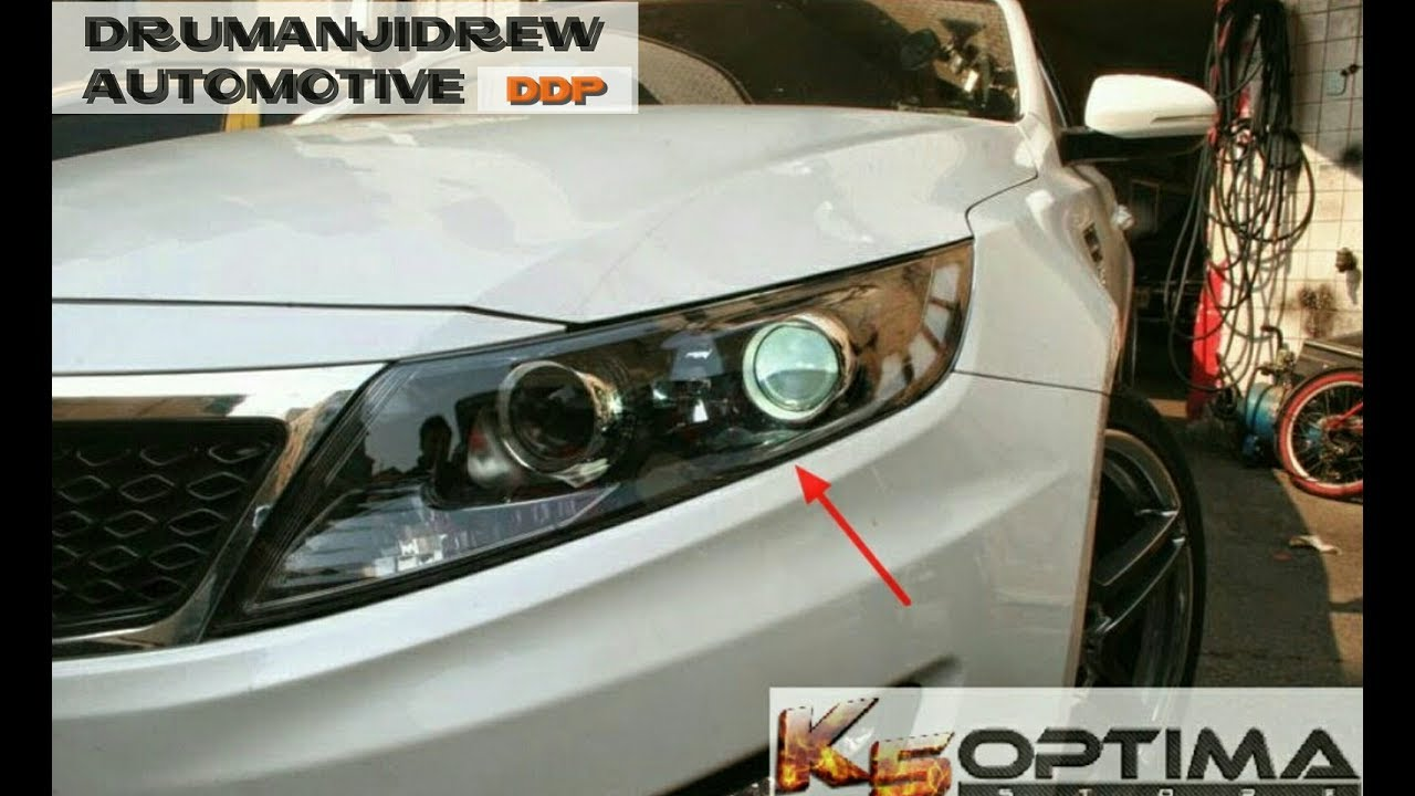 How To Easily Change Headlight Bulbs On 2011 2013 Kia Optima Youtube