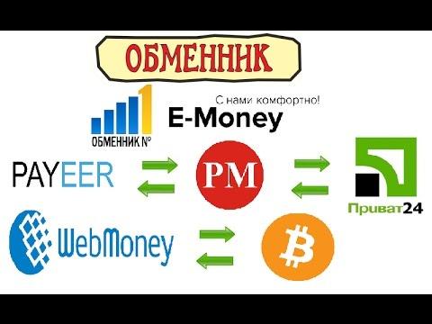 Как обменять электронные деньги с Е-money; Обмен на Приват24