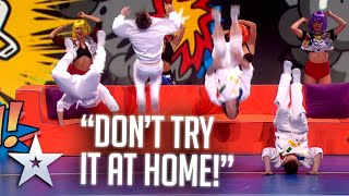 A BOUNCY start for the flying boys of OK WORLDWIDE! | Live Shows | BGT Series 9