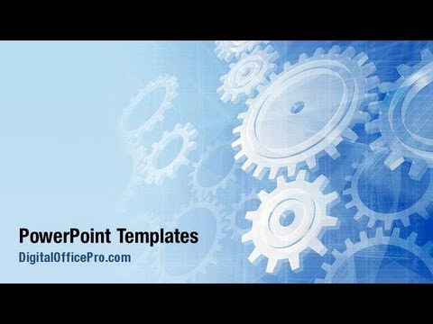 Mechanical powerpoint template backgrounds for Powerpoint theme vs template