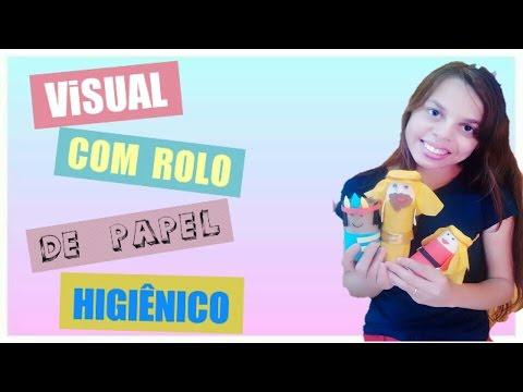 Visual Com Rolo De Papel Higiênico Gabriele Rios Youtube