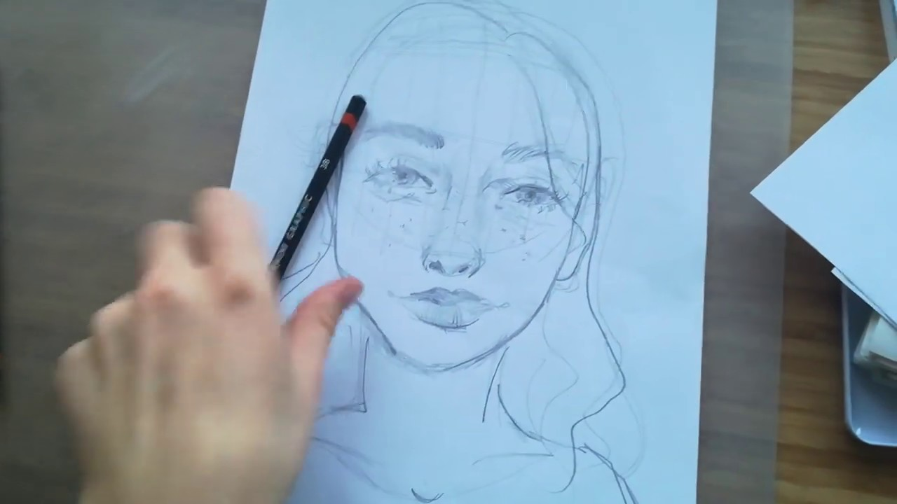 Tutorial: sådan tegner du et ansigt (messy edition)