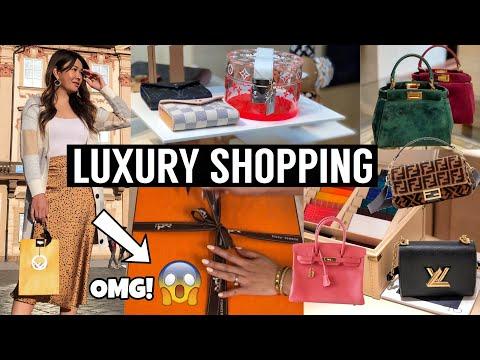 LUXURY SHOPPING EUROPE | Louis Vuitton, Fendi & Hermes  *SCORED a BIRKIN or KELLY!*