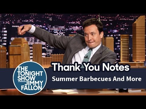 Thank You Notes: SummerBarbecues, Pop-Tarts