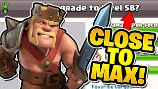 "GETTING CLOSE TO MAX! - Level 58 King! - ""Clash of Clans"""
