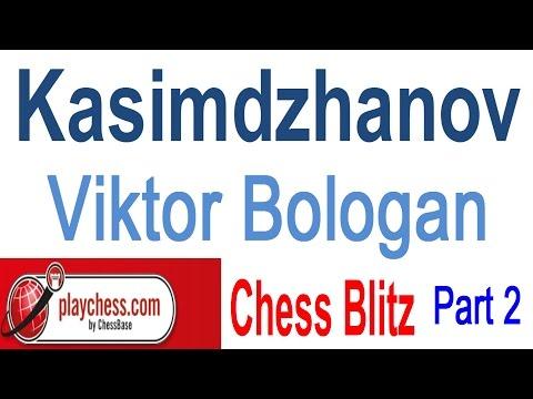 ♚ Rustam Kasimdzhanov vs Viktor Bologan ☆ Chess Blitz on Playchess.com  Part 2 ☆ January 14 2015