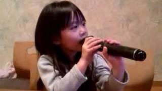 superflyの「愛をこめて花束を」を5歳の娘が歌ってみた thumbnail
