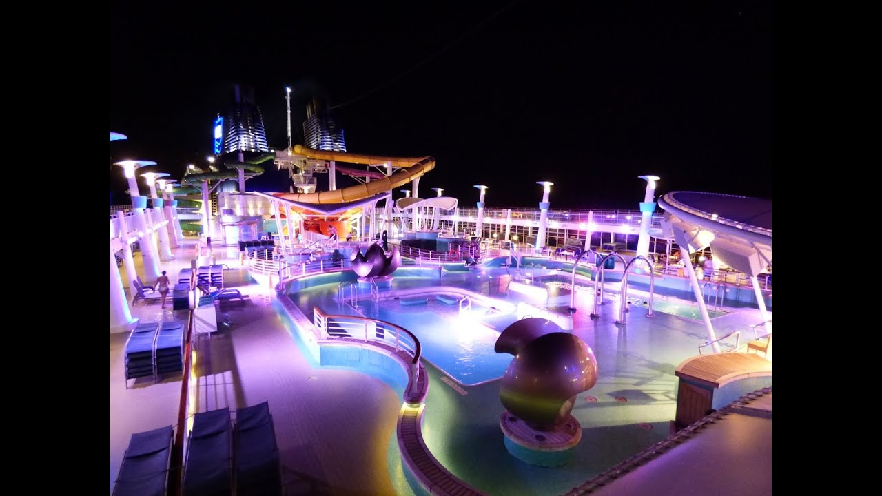Norwegian epic pool deck 15 day night tour youtube for Epic pool show