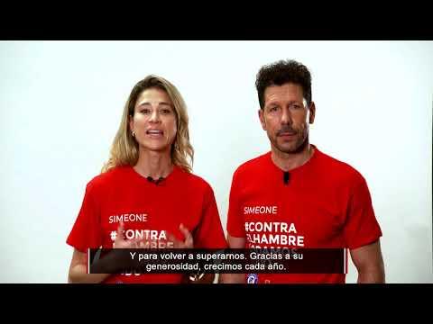 VII Edición de la campaña Contra el hambre lo damos todo - Simeone y Fundación Atlético de Madrid