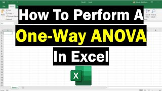 How To Perform A One-Way ANOVA Test In Excel
