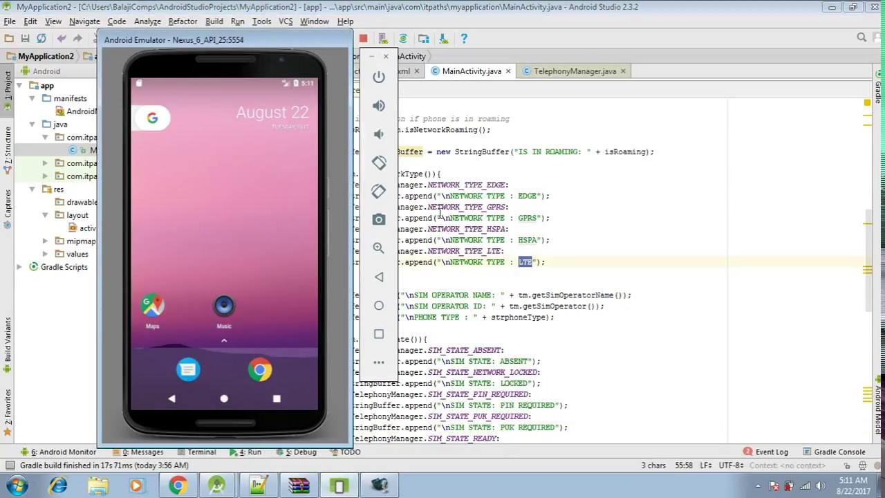 Android Telephony Manager Class