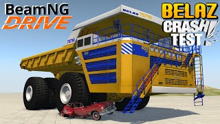 BeamNG DRIVE BELAZ 75710 Car Crush
