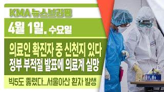 '의료인 확진자 중 34명 신천지' 정부 또 부적절 발…