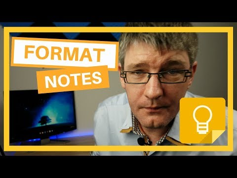 How to Format text in Google Keep