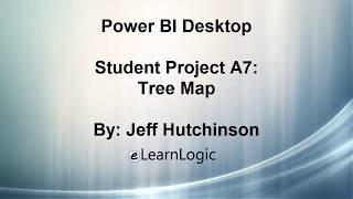 Power BI A7 - كيفية إنشاء Treemap الرسم البياني (المشاريع الطلابية)