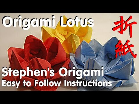 How To Make An Origami Lotus Flower From A Napkin Origami