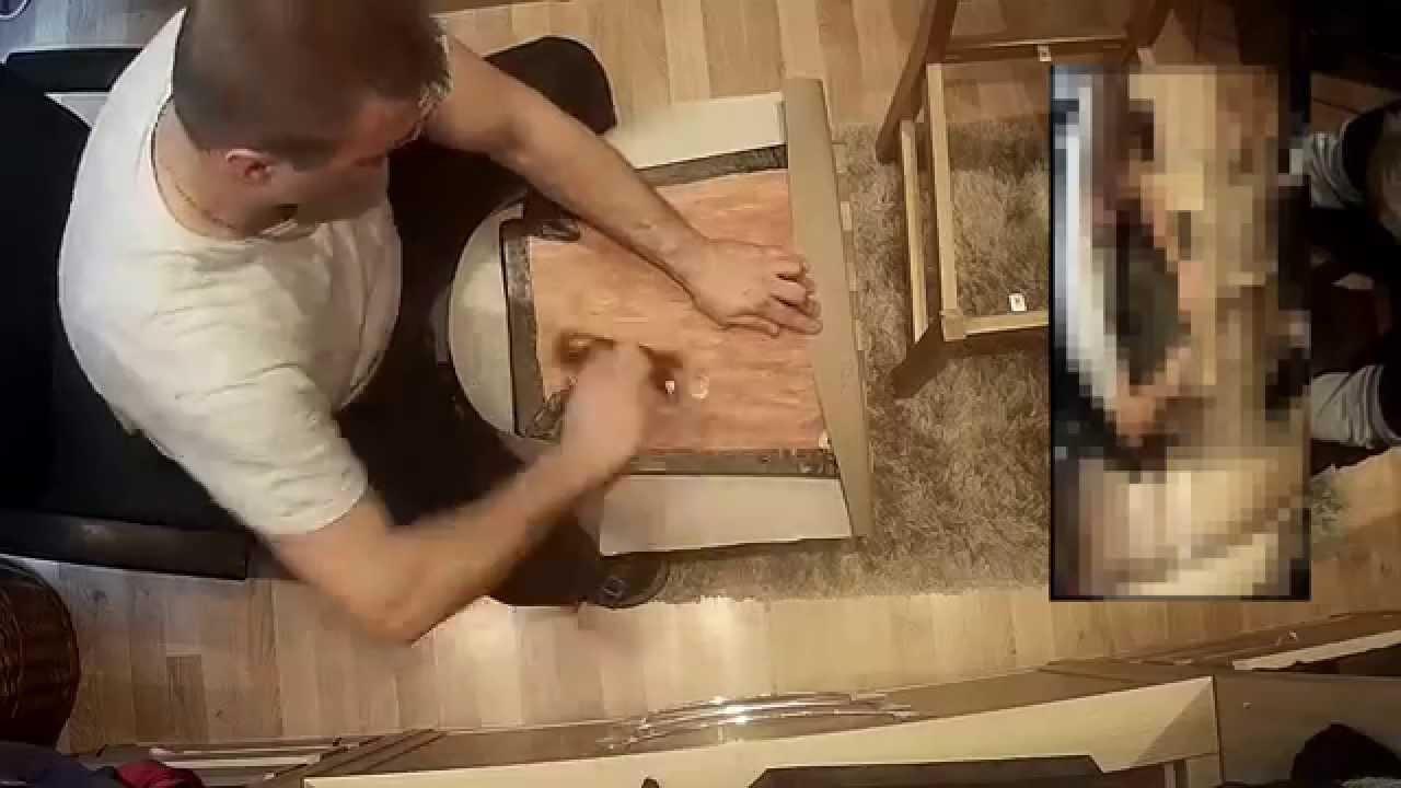 Küchenstuhl Mit Kunstleder Neu Polstern Beziehen Und Restaurieren