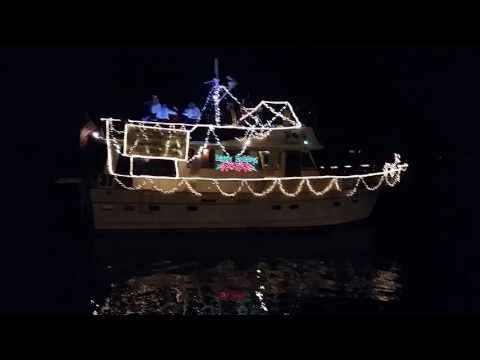 2016 Panama city Christmas boat parade.