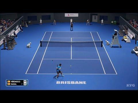 AO Tennis 2 - Fernando Verdasco Vs Rafael Nadal - Gameplay (PS4 HD) [1080p60FPS]