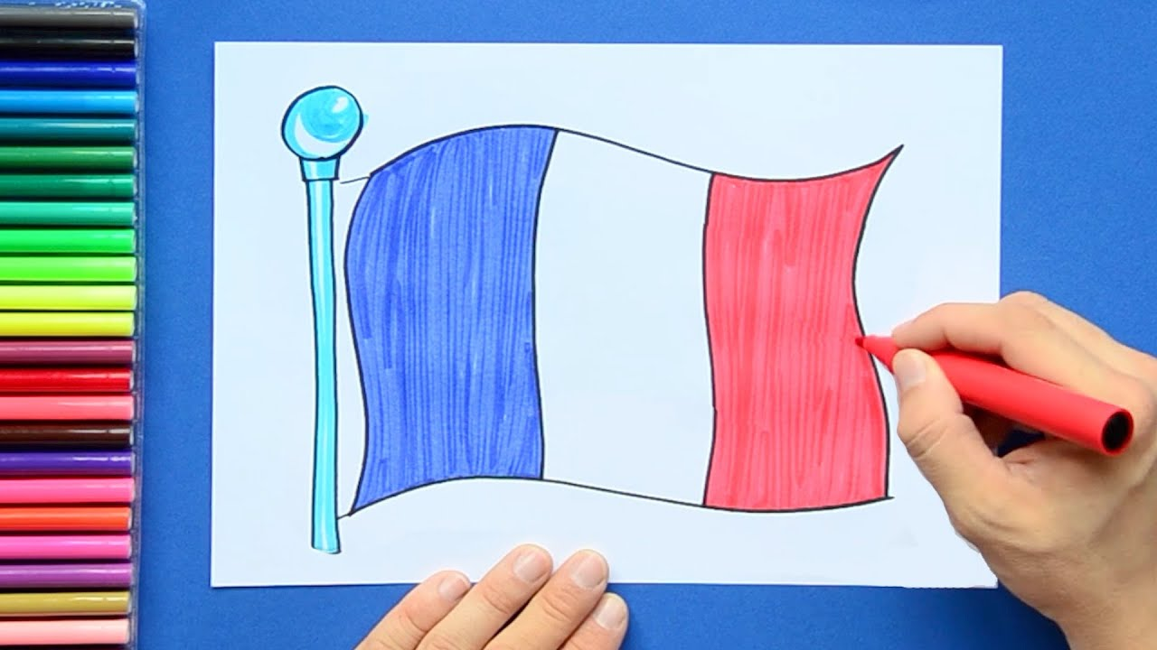 How to draw the National Flag of France - YouTube