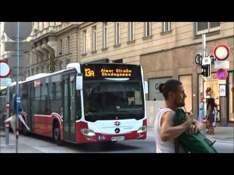Vienna-Bus 13A to Central Station 維也納-巴士13A 到中央車站