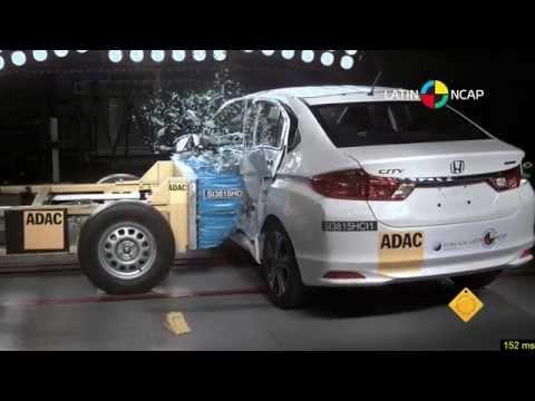 Crash Test Com Honda City Youtube