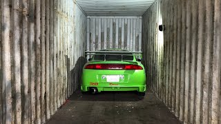 Je sors ma Mitsubishi Eclipse Fast & Furious du container !