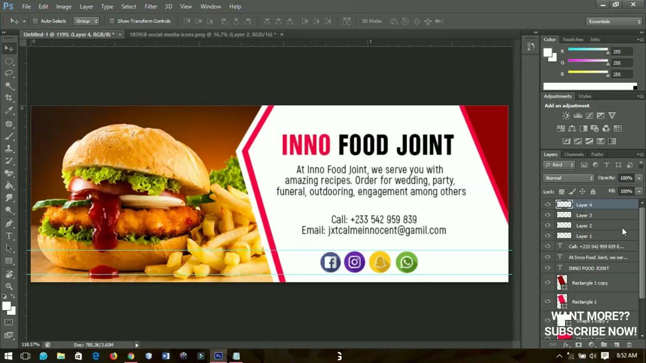 Hacer un Banner Sencillo Y profesional con Photoshop | Tutorial de Photoshop