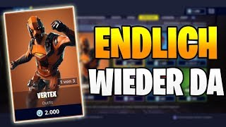 ENDLICH BACK DA Vertex Skin 😬 Fortnite Shop Aujourd'hui 12,3