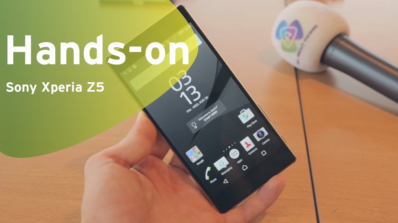 Sony Xperia Z5 hands-on (Dutch) - YouTube