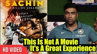 Sachin Is Not A Movie It's A Great Experience Ravichandran Ashwin Review On Sachin A Billions D