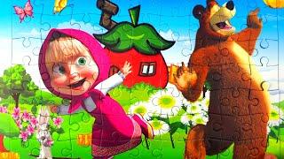 Маша и Медведь - ловят бабочек
