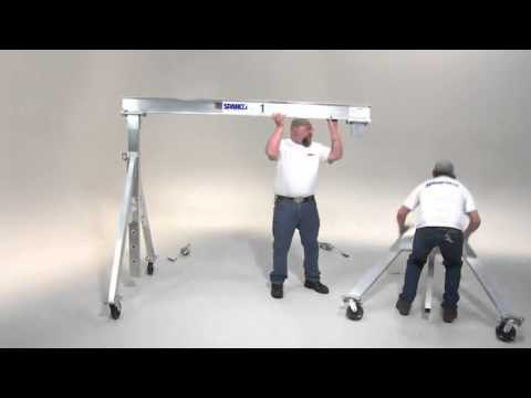 Spanco Aluminum Gantry Cranes How To Assemble Youtube