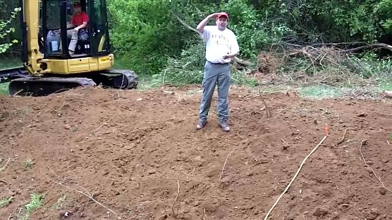 backyard stream repair proper bank grading youtube