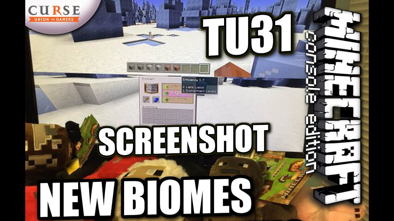 Minecraft PS4 - TU31 SCREENSHOT - NEW BIOMES / ENCHANTING ( PS3 / XBOX )