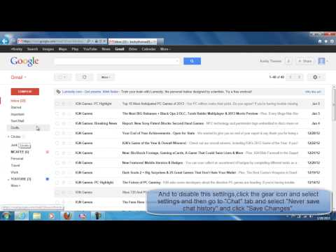 HOW TO ENABLE OR DISABLE CHAT HISTORY SAVING IN GMAIL ACCOUNT