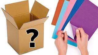 Repisa flotante hecha con Cartón / Una caja y dos Repisas hechas MP3