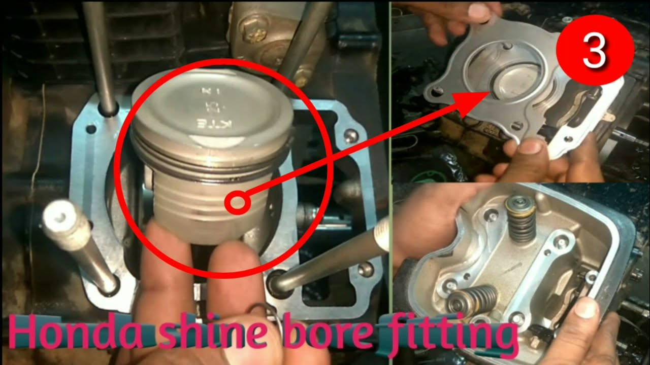 How to repair bore kit and cylinder kit for honda shine