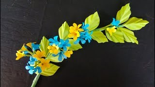 How to make paper flowers backdrop | Making Papercraft | Flower Stick | Paper Flowers Step by Step