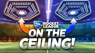 Rocket League, but the Goals are ON THE CEILING! *NEW* Rocket League POPSHOT