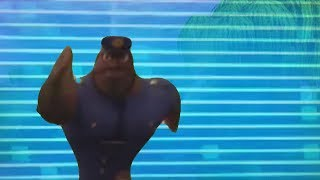 officer earl runs from the storm in fortnite