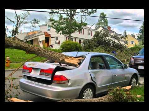 TORNADO Springfield Massachusetts 6-1-2011 Aftermath (East Forest Park )