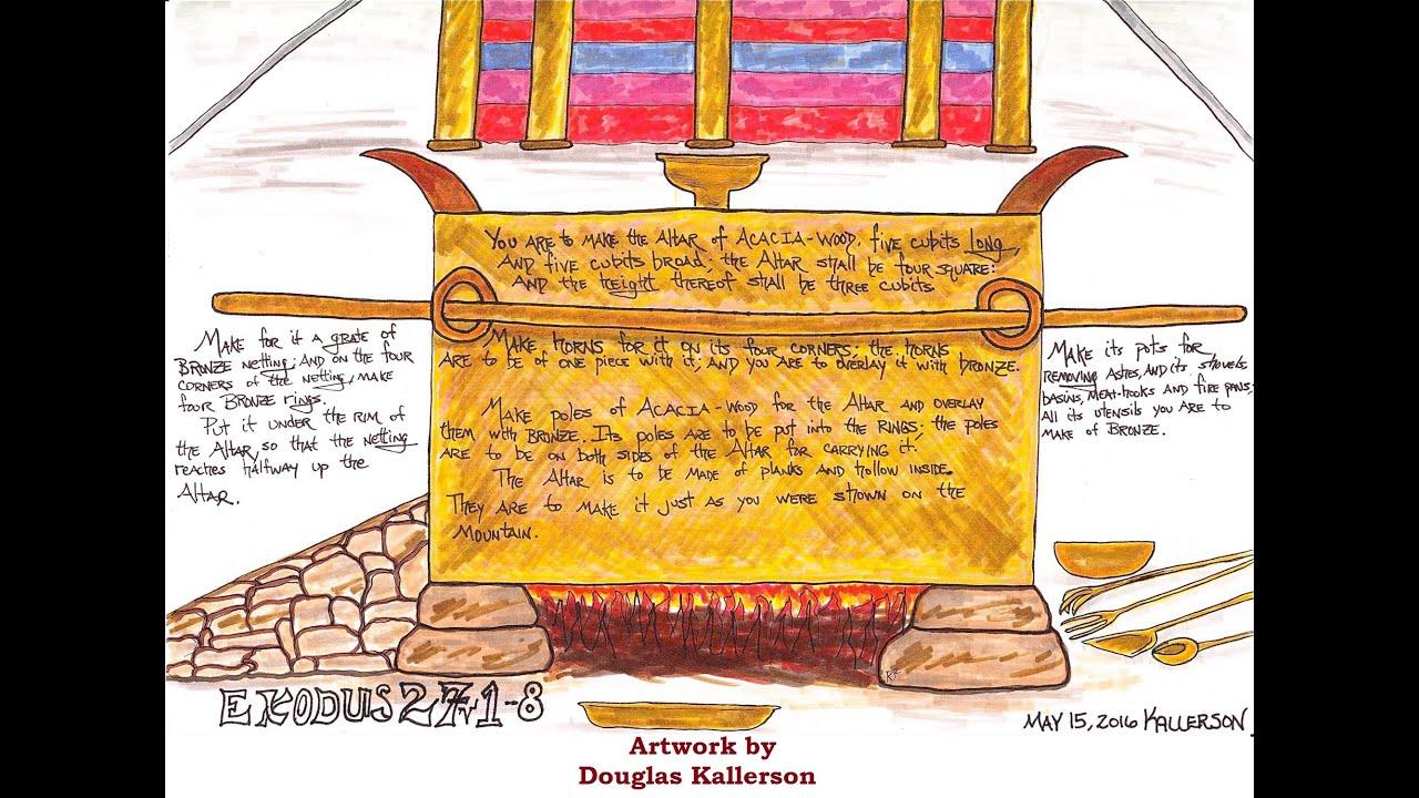 Exodus 27:1-8 (The Brazen Altar) - YouTube for Brazen Altar And Laver  555kxo
