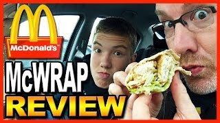 Mcdonald's Chicken And Bacon Signature Mcwrap Review With Ben From Bigbenstudios