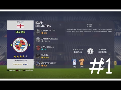 LETS DO THIS - FIFA 18 Reading FC Manager Career Mode #1