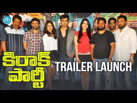 Kirrak Party Trailer Launch || Nikhil || Samyuktha || Simran Pareenja || Sharan Koppisetty