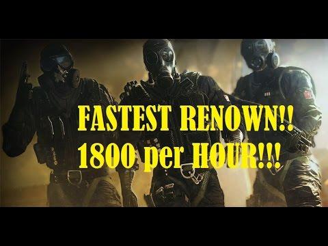 FAST Renown! Easy!! Rainbow 6 Seige