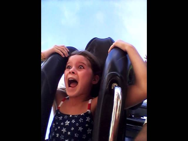 Awesome reaction to roller coaster ride!