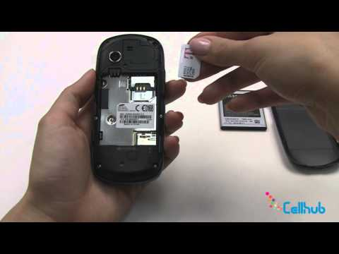 Samsung Gravity 3  How to Install Sim card and Battery